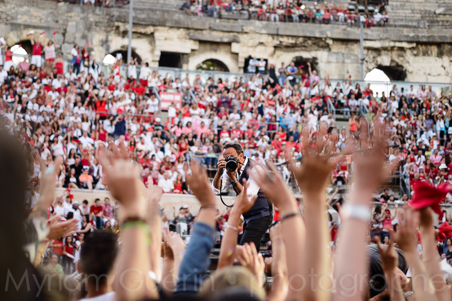 Nikos Aliagas, fête de la musique, Arênes de Nîmes,  20 juin 2015