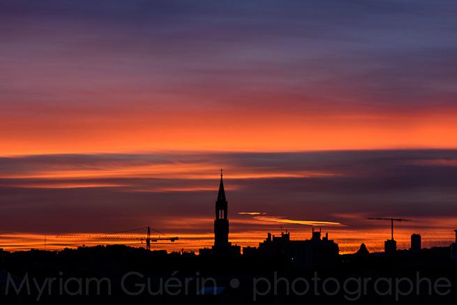 Nîmes, dans le ciel. 29 Octobre 2015, 18h51